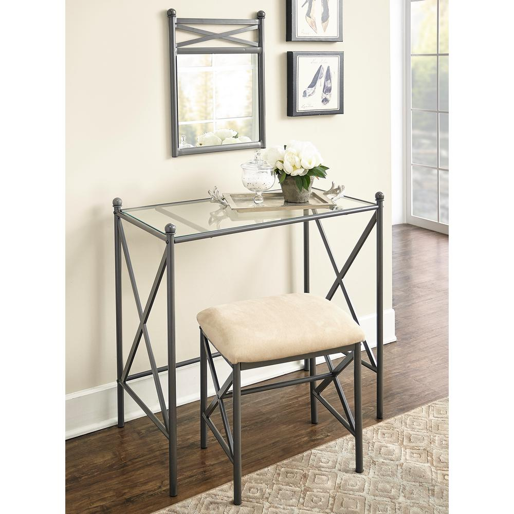 Mission Hills 2 Piece Metal Vanity Set