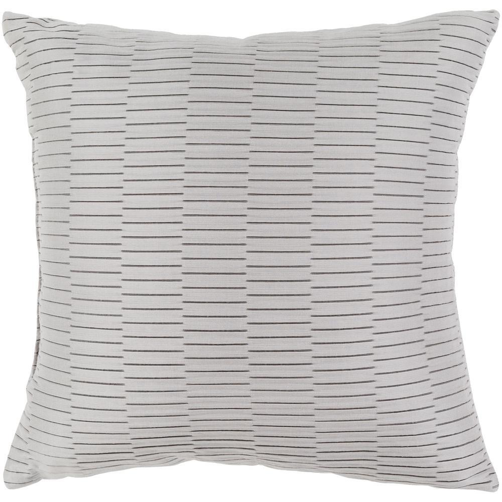 Gordon Grey Geometric Polyester 20 in. x 20 in. Throw Pillow