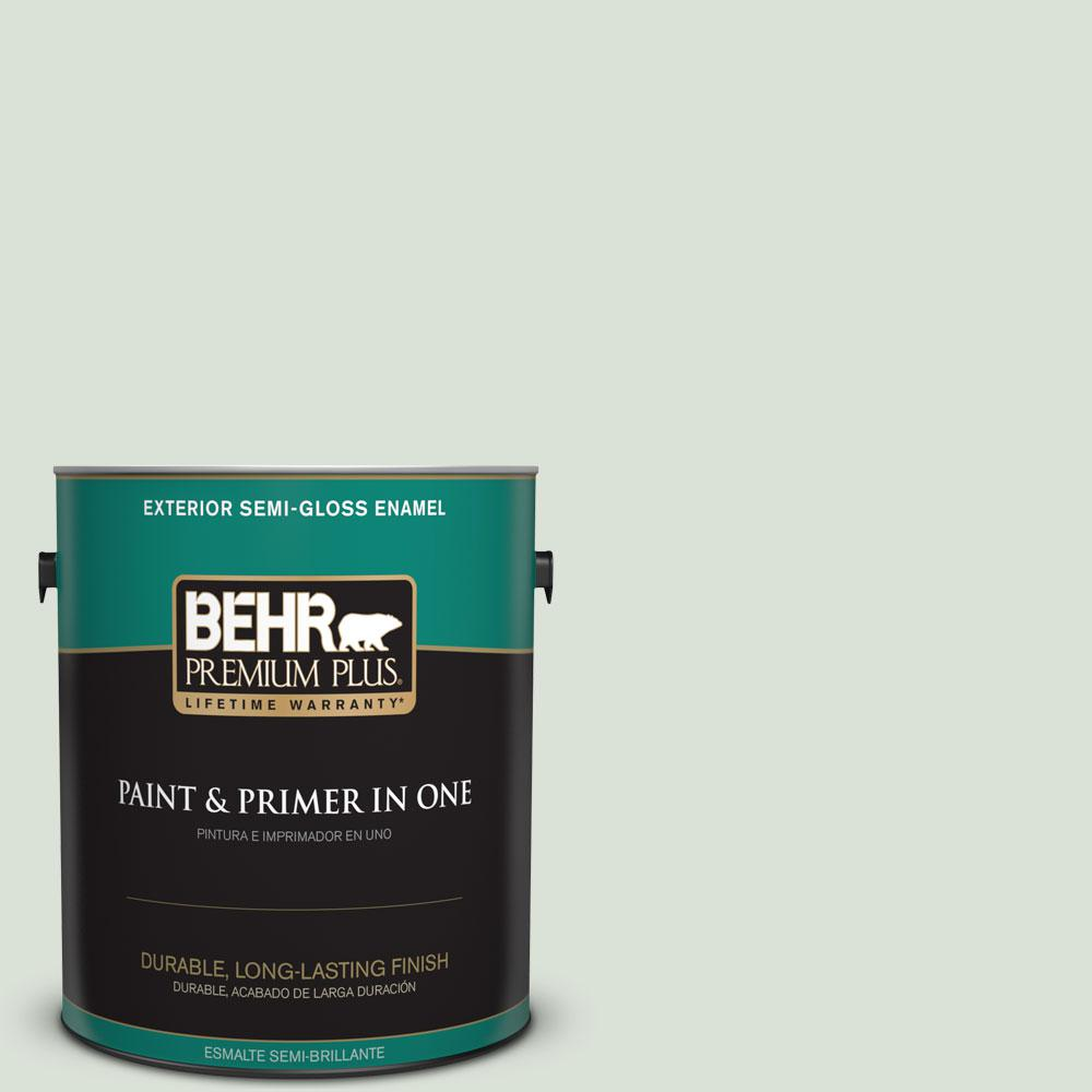 1-gal. #N390-1 Light Mist Semi-Gloss Enamel Exterior Paint
