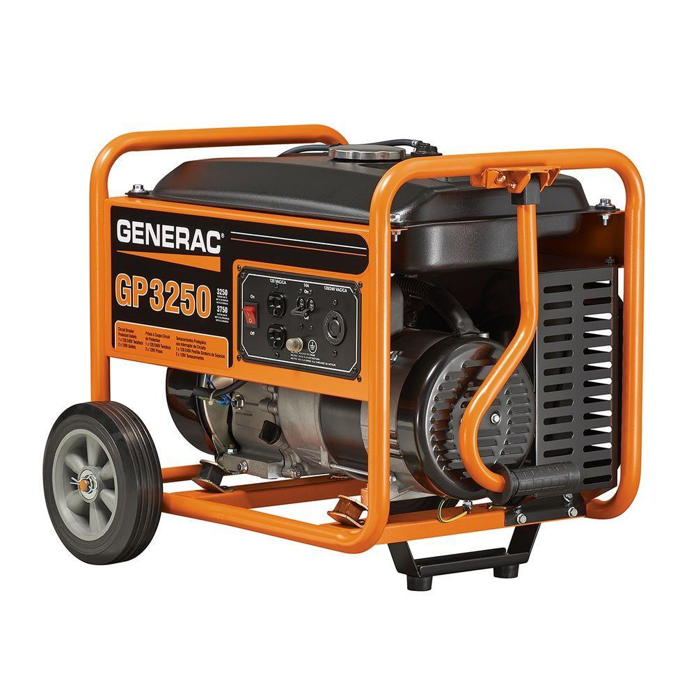 Generac 3,250-Watt Gasoline Powered Portable Generator