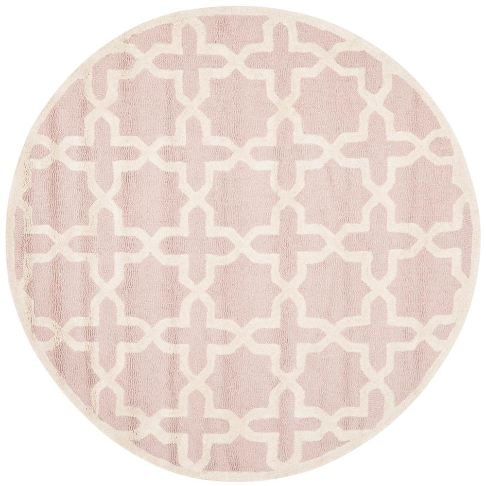 Safavieh Cambridge Light Pink Ivory 8 Ft X Round Area Rug