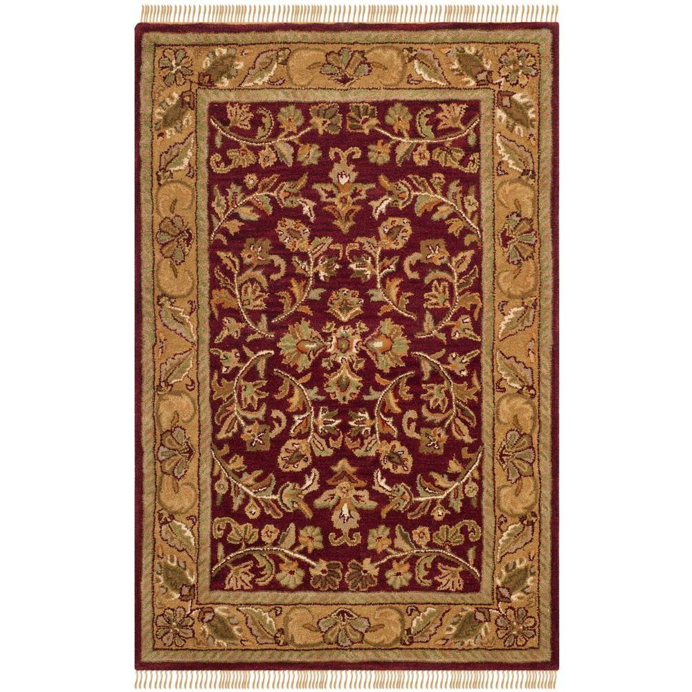 Safavieh Heritage Red/Gold 4 ft. x 6 ft. Area Rug