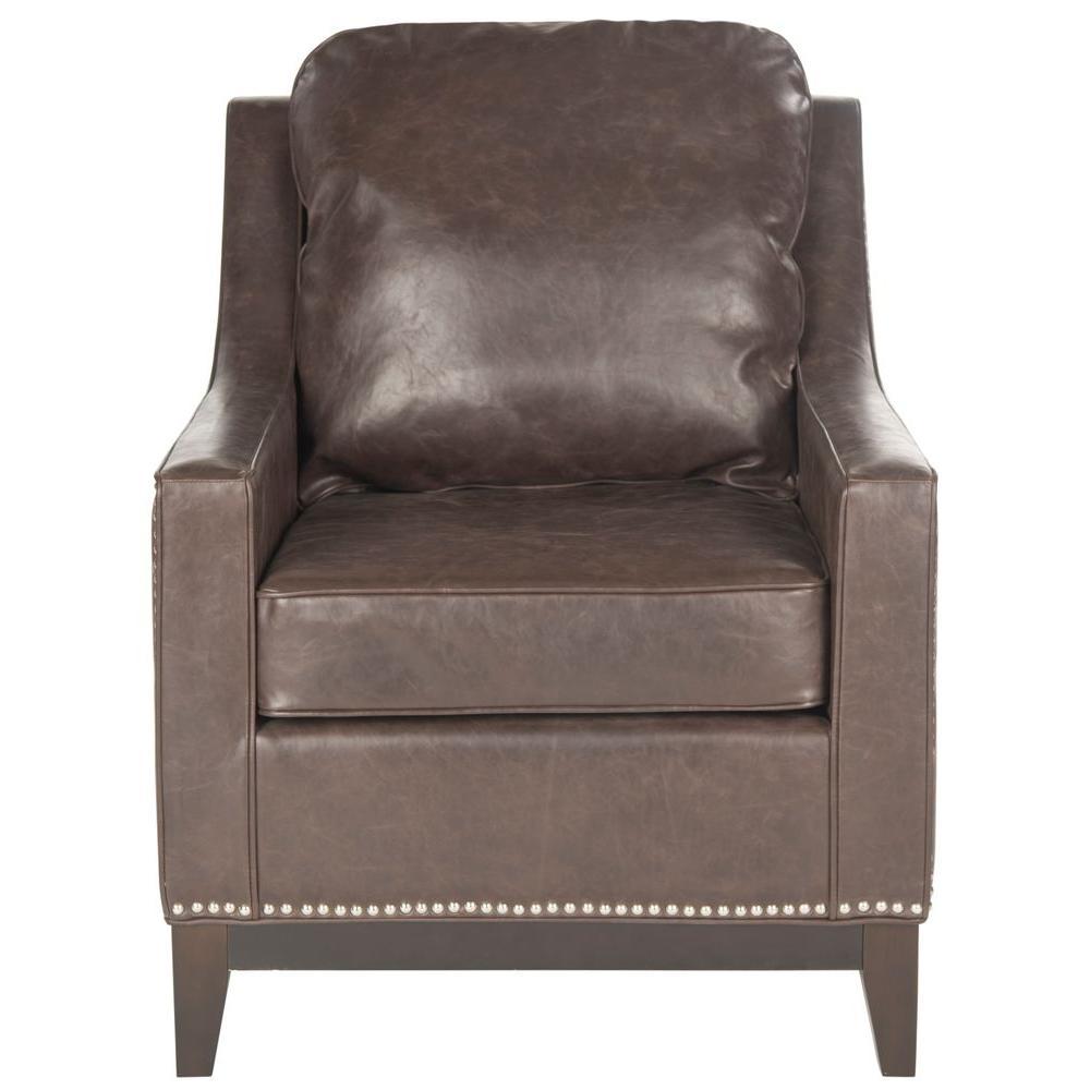 Colton Antique Brown/Espresso Bicast Leather Club Arm Chair