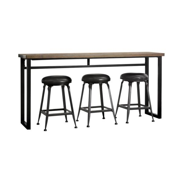 Furniture of America Tracx 4-Piece Rustic Oak and Black Dining Set