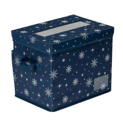 Navy Deluxe Ornament Storage (36-Count)