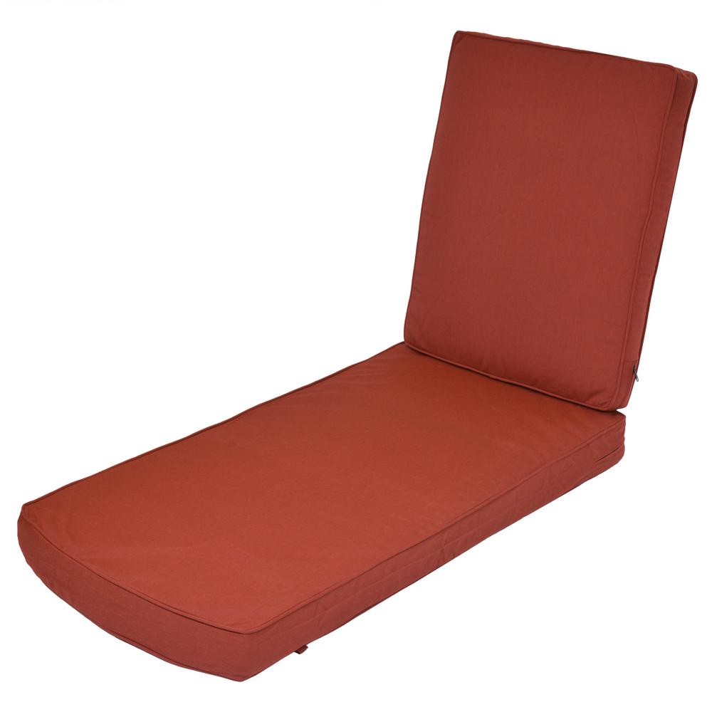 Pleasing Sunbrella Canvas Henna Replacement 2 Piece Outdoor Chaise Lounge Cushion Pdpeps Interior Chair Design Pdpepsorg