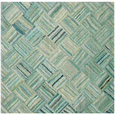 Nantucket Green/Multi 6 ft. x 6 ft. Square Area Rug