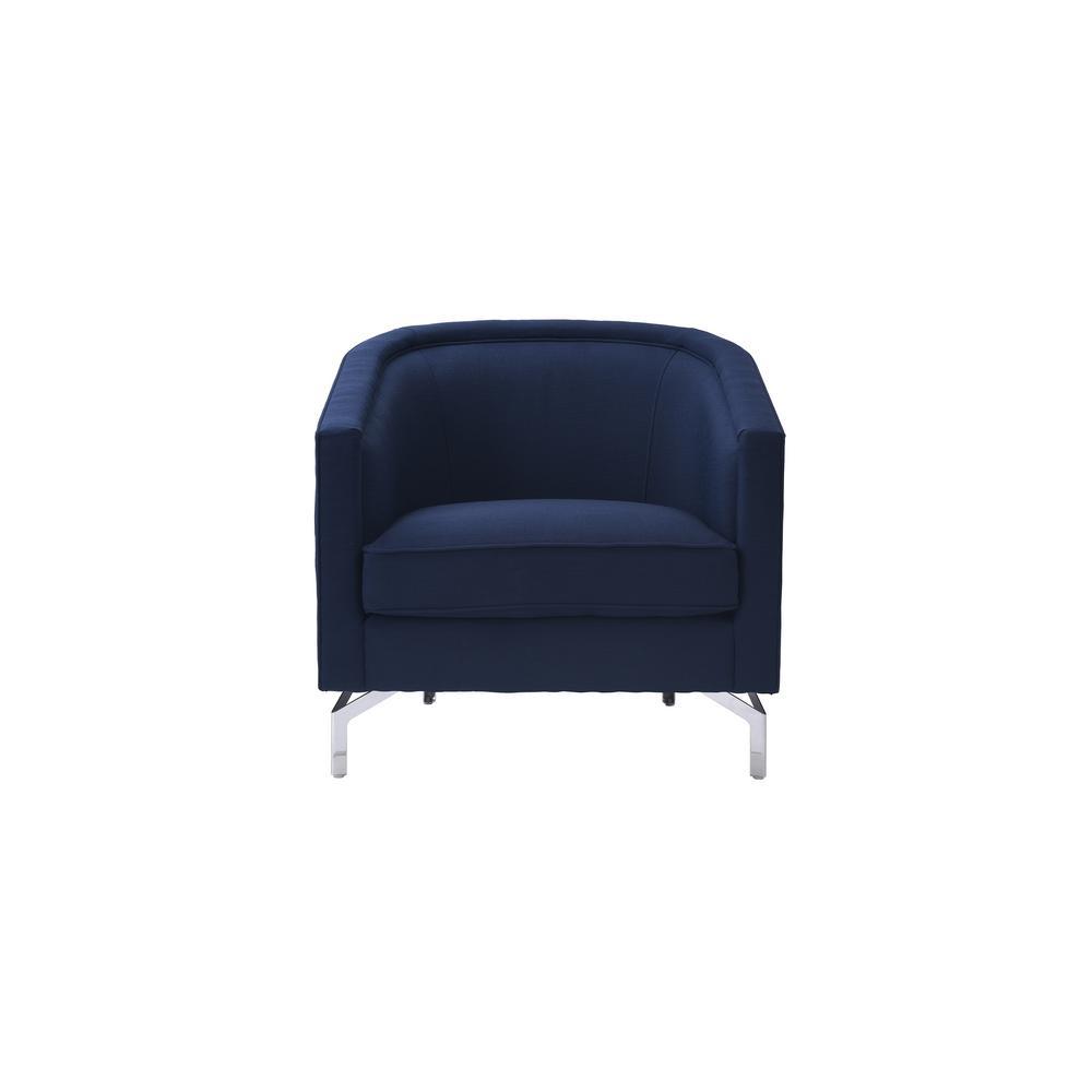 SANDY WILSON Annette Midnight Blue Cabriole Arm Chair