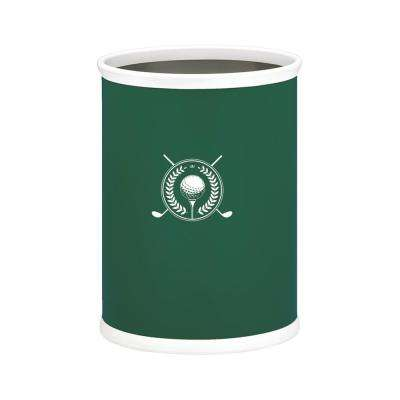 Kasualware Golf 13 Qt. Oval Wastebasket in Green