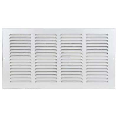 16 in. x 8 in. Return Air Steel Grille in White