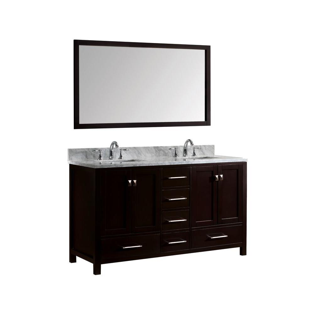 Caroline Avenue 60 in. W x 36 in. H Vanity with