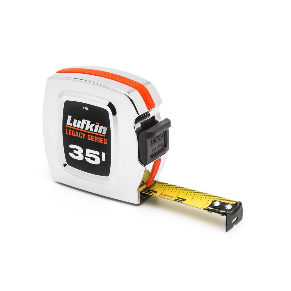 Legacy Series 1 in. x 35 ft. Chrome Tape Measure
