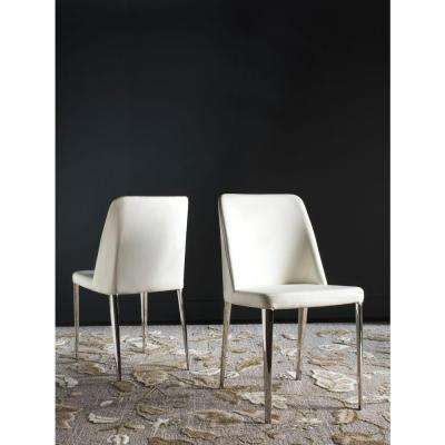 Baltic White Bicast Leather Dining Chair (Set of 2)