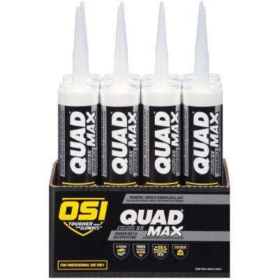 QUAD Max 9.5 fl. oz. White #001 Window Door and Siding Sealant (12-Pack)