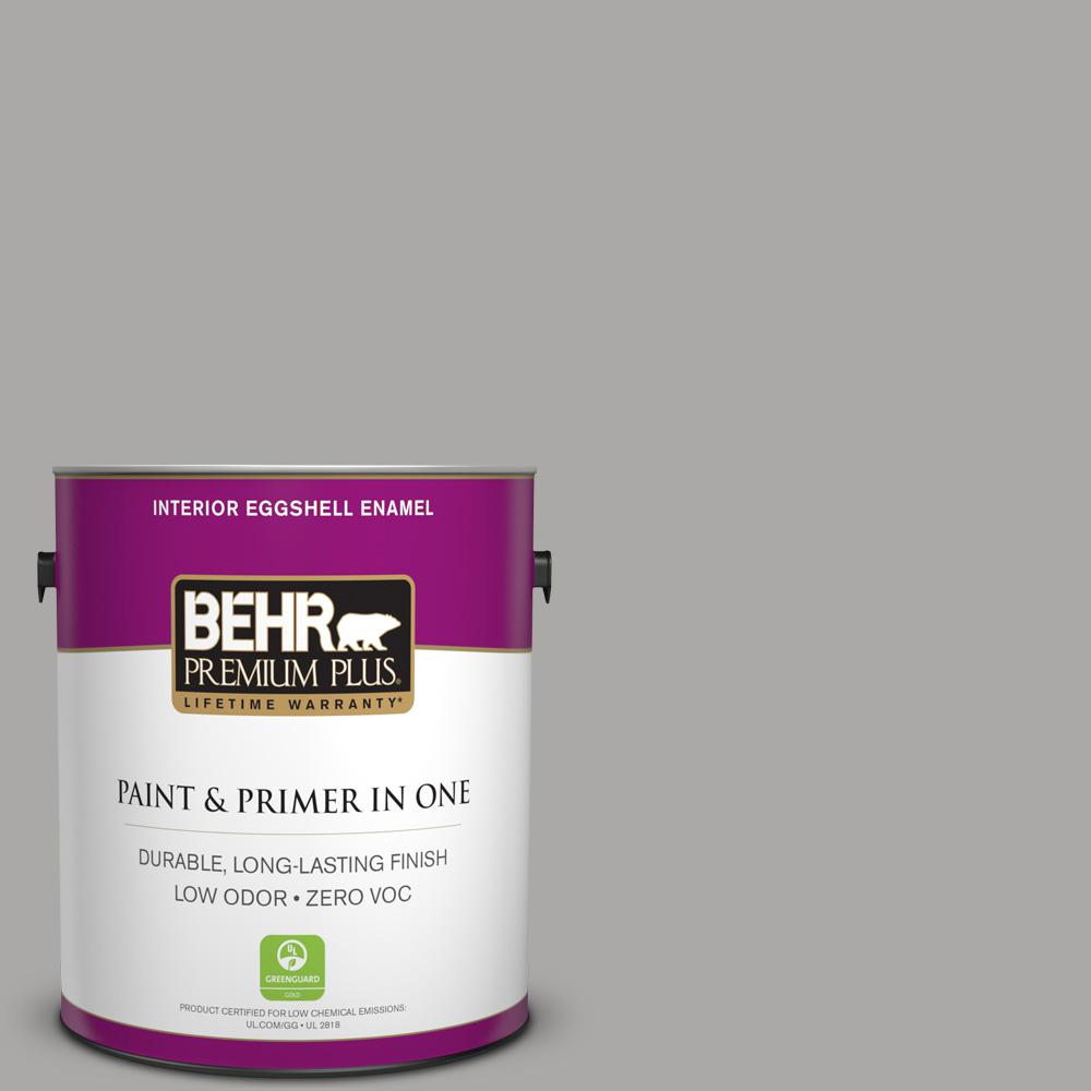 1 gal. #PPU18-14 Cathedral Gray Zero VOC Eggshell Enamel Interior Paint