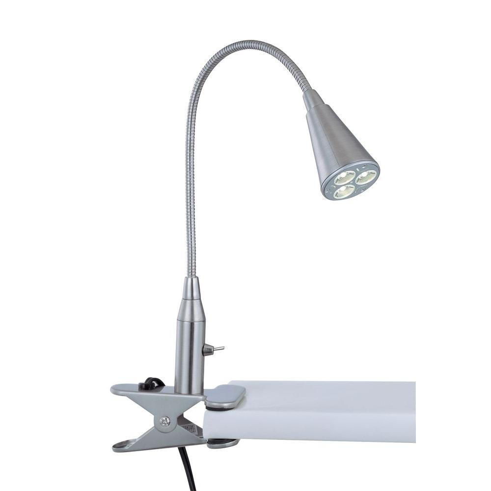 Illumine 1-Light Clip On Lamp Polished Steel Finish
