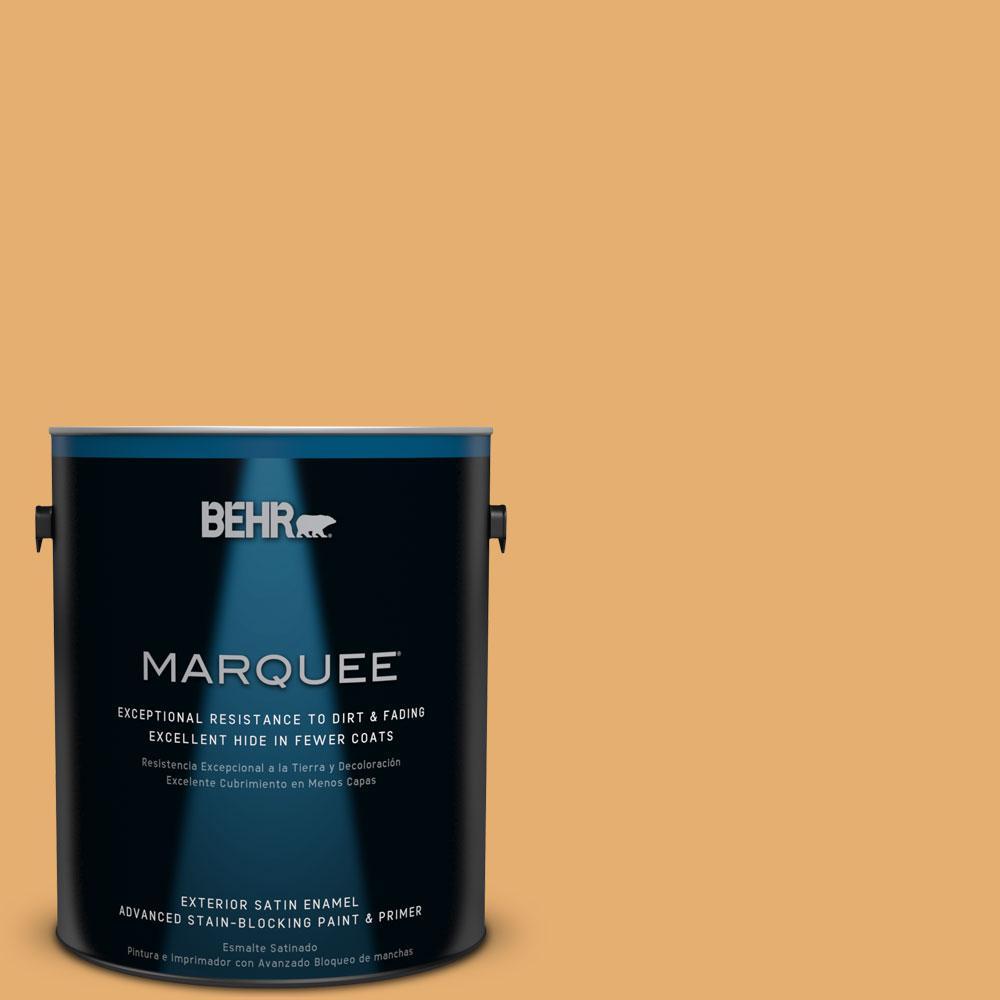1-gal. #M260-5 Mac N Cheese Satin Enamel Exterior Paint