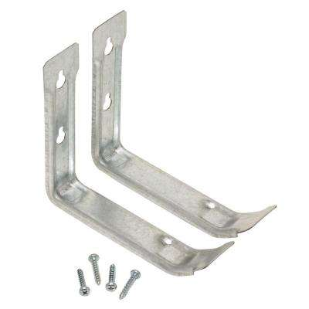Zinc-Plated Steel Utility Brackets (2-Pack)