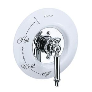 Kohler 7-1/2 inch Antique Ceramic Dial Plate in White by Kohler