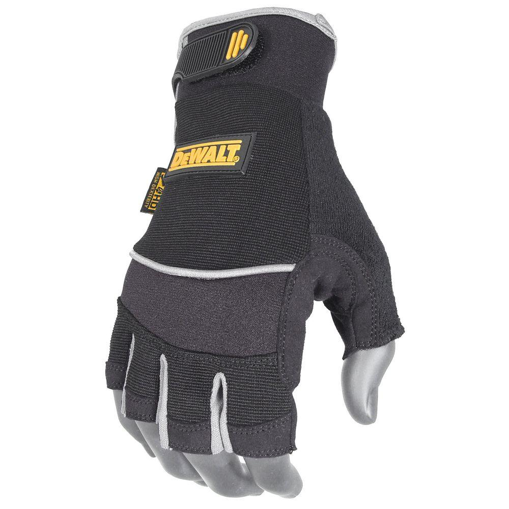 Fingerless Synthetic Palm Performance Work Glove - Large