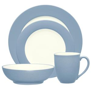 Colorwave 4-Piece Ice Rim Dinnerware Set