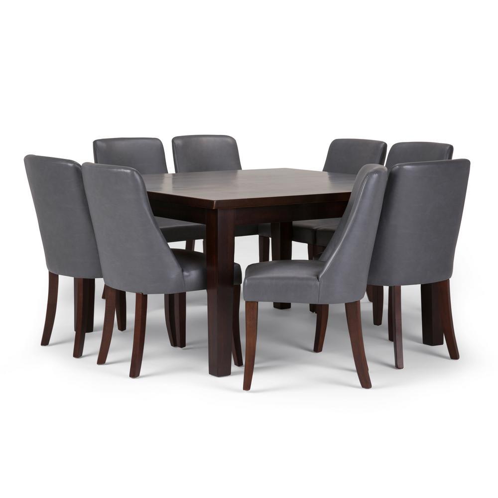 Terrific Simpli Home Walden 9 Piece Dining Set With 8 Upholstered Creativecarmelina Interior Chair Design Creativecarmelinacom