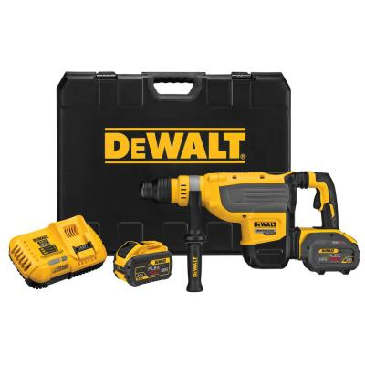FLEXVOLT 60-Volt Max Lithium Ion Brushless Cordless 1-7/8 in. SDS Rotary Hammer Kit with (2) 9 Ah Batteries and Charger