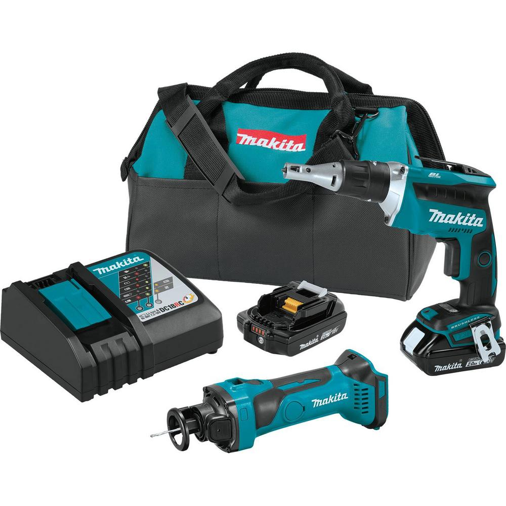 18-Volt 2.0Ah LXT Lithium-Ion Compact Cordless Combo Kit (2-Piece) (Brushless