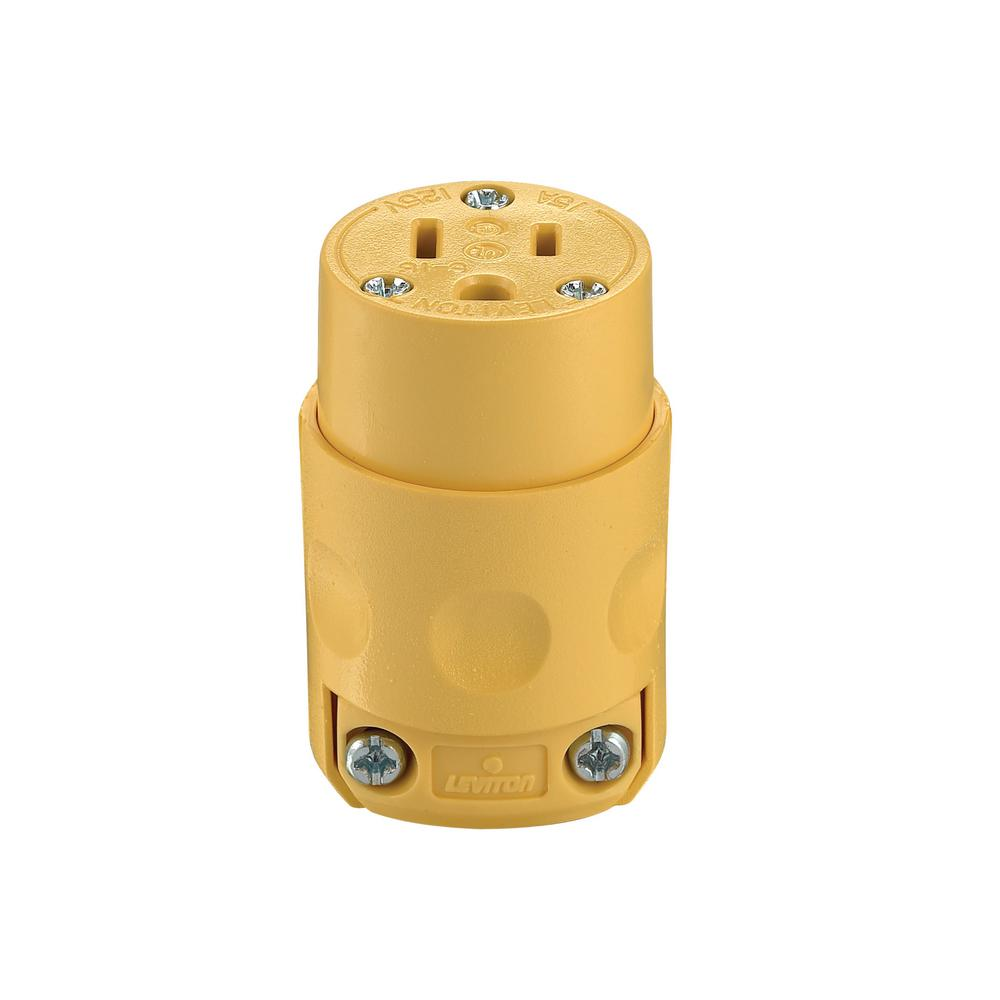 Leviton 15 Amp 125-Volt 3-Wire Connector, Yellow