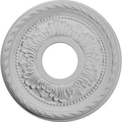12-1/8 in. O.D. x 3-5/8 in. I.D. x 1 in. P Palmetto Ceiling Medallion