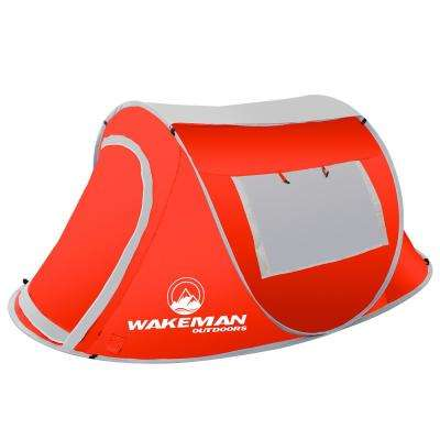 2-Person Red Sunchaser Pop-Up Tent