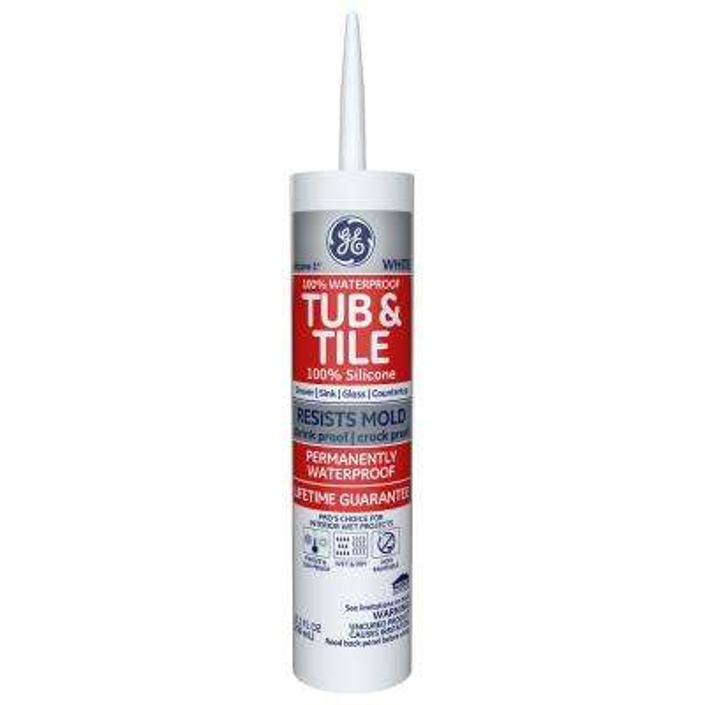 Tub and Tile Silicone 1 10.1 oz. White Kitchen and Bath Caulk