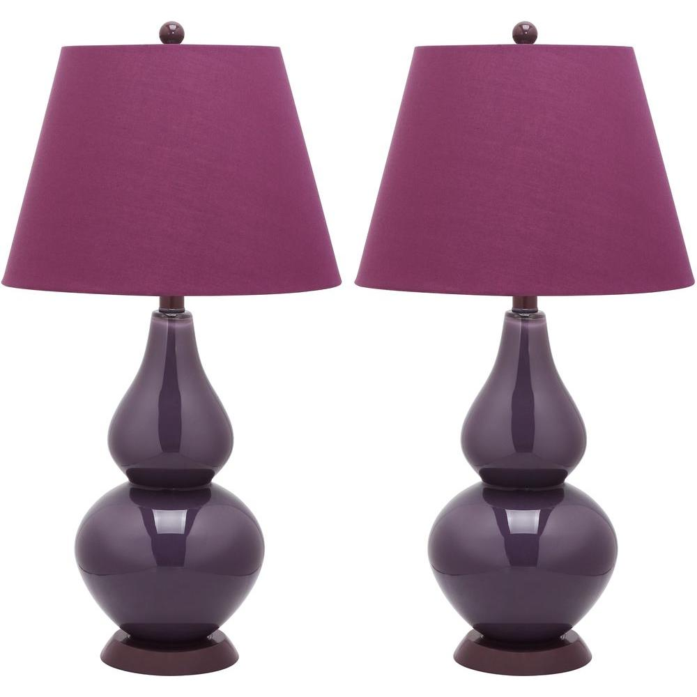 Safavieh Cybil 26 5 In Dark Purple Double Gourd Glass