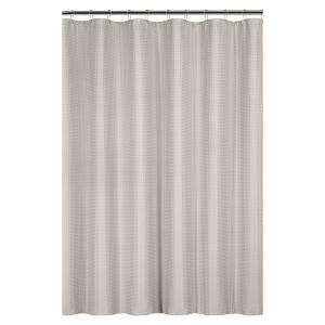 Bath Bliss Waffle Weave 72 inch Tan Shower Curtain with Metal Grommets by Bath Bliss