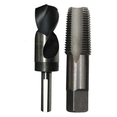 1/2 in. Carbon Steel NPT Pipe Tap and 23/32 in. High Speed Steel Drill Bit Set (2-Piece)
