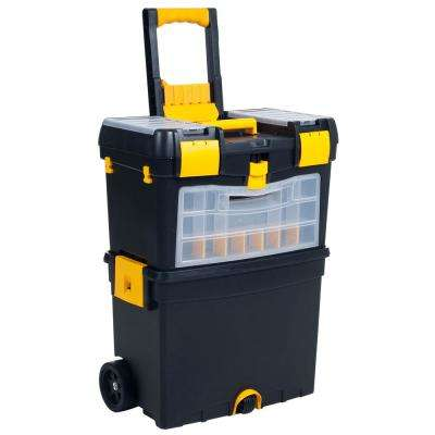 10 in. Heavy-Duty Rolling Upright Tool Box with Foldable Comfort Handle