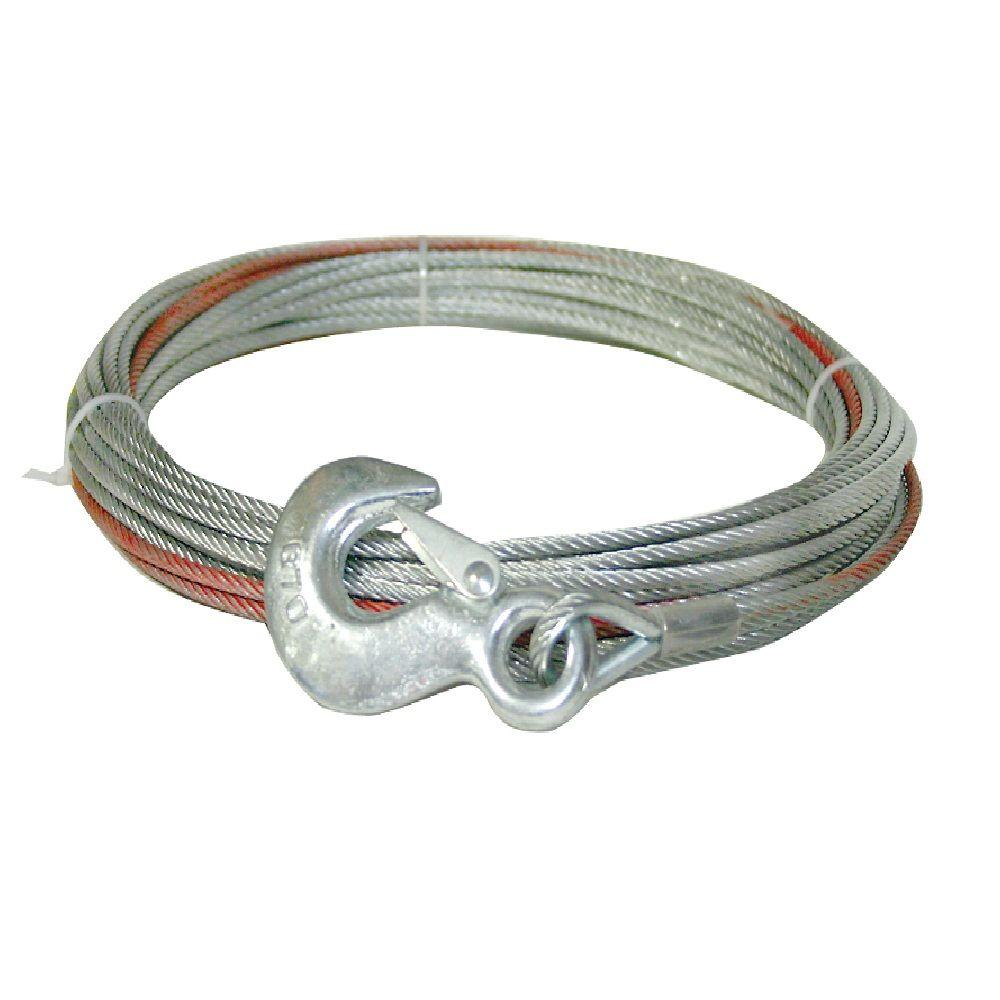 Keeper 50 Ft. x 5/32 In. Wire Rope-KTA14118-1 - The Home Depot