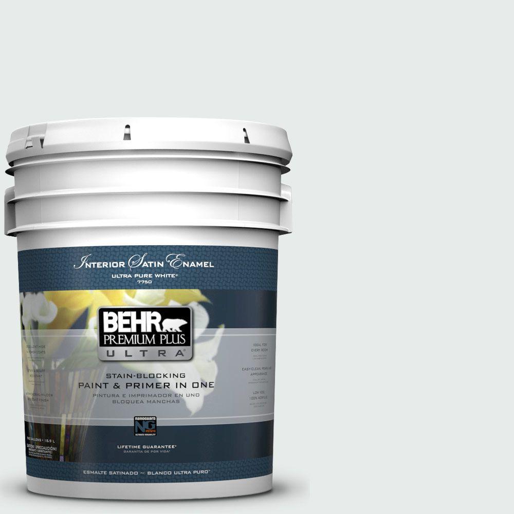 5-gal. #BL-W5 Dusting Powder Satin Enamel Interior Paint