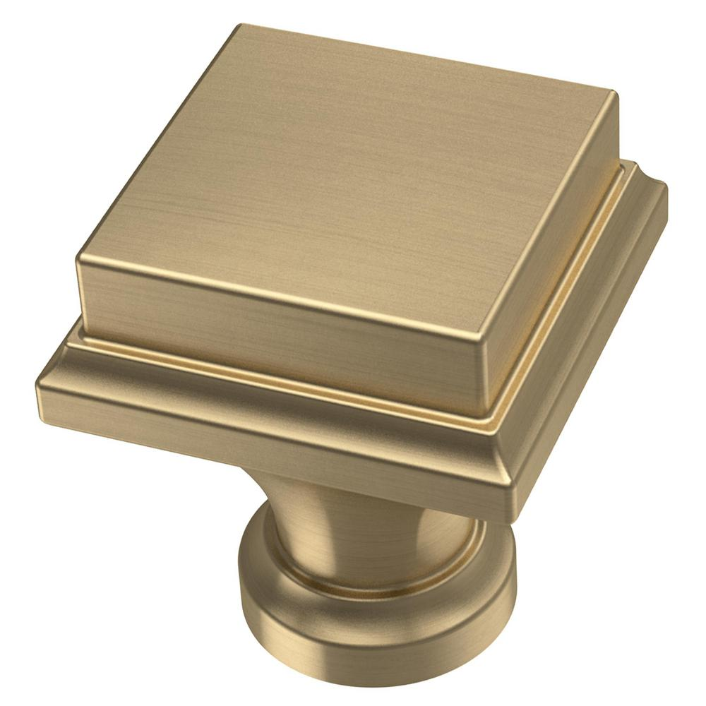 Liberty Regal Square 1 in. (25 mm) Champagne Bronze Cabinet Knob (10-Pack)