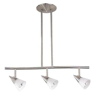 Cassiopeia 3-Light Ceiling Satin Nickel Incandescent Island Light