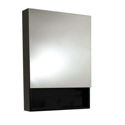 24 in. x 34 in. Surface Mount Medicine Cabinet in Espresso