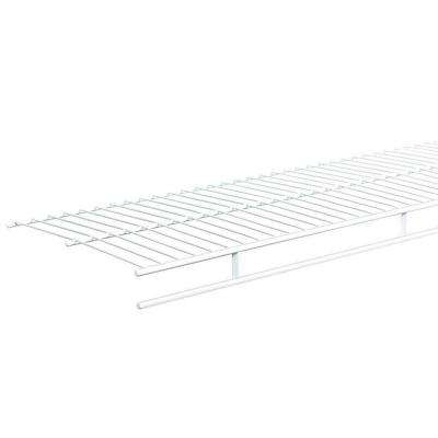 Shelf and Rod 6 ft. x 12 in. Ventilated Wire Shelf