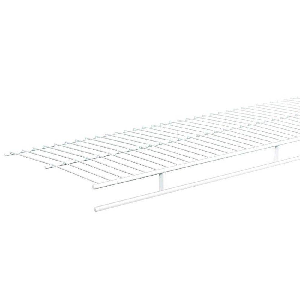 closetmaid ventilated wire corner shelf for 12 in  shelf and rod shelving-21066