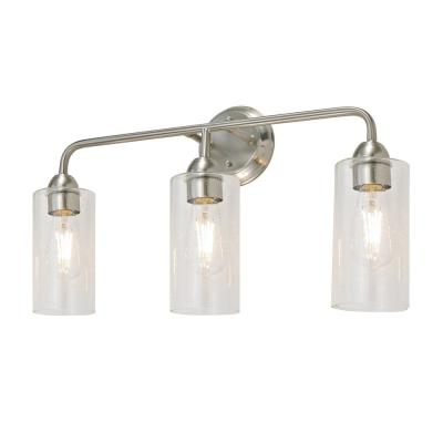 Echo Collection Brushed Nickel Vanity Light Bath Hardware Set (5-Piece)
