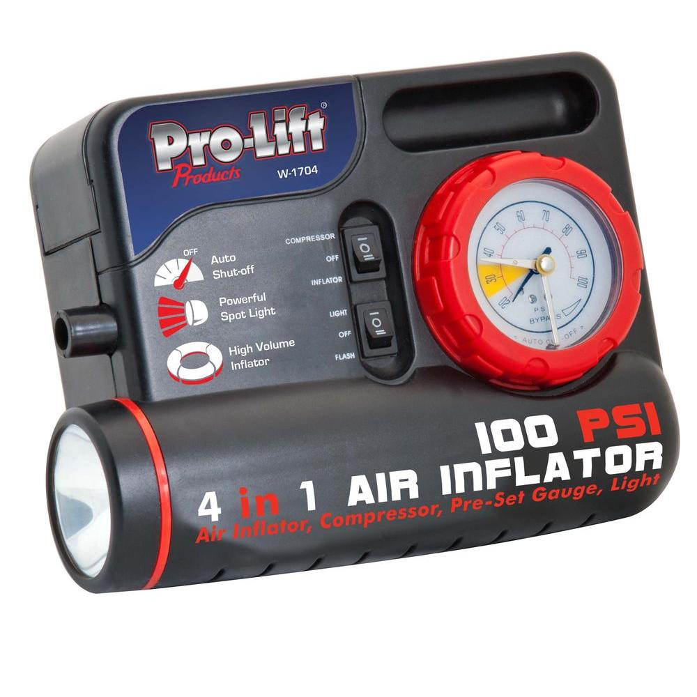 Pro-Lift 12-Volt 4-in-1 Air Inflator/Compressor