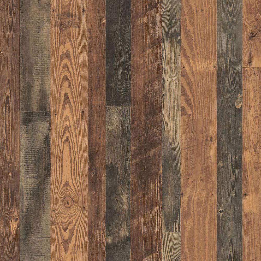 3 in. x 5 in. Laminate Countertop Sample in Antique Bourbon Pine with Premium SoftGrain