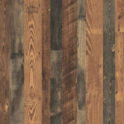 4 ft. x 8 ft. Laminate Sheet in Antique Bourbon Pine Premium SoftGrain