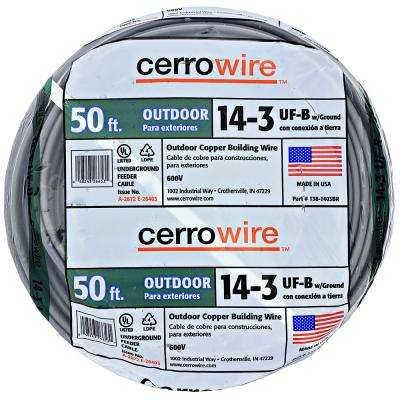 50 ft. 14/3 UF-B Wire