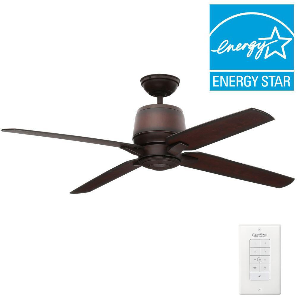 Aris 54 in. Indoor/Outdoor Brushed Cocoa Bronze Ceiling Fan