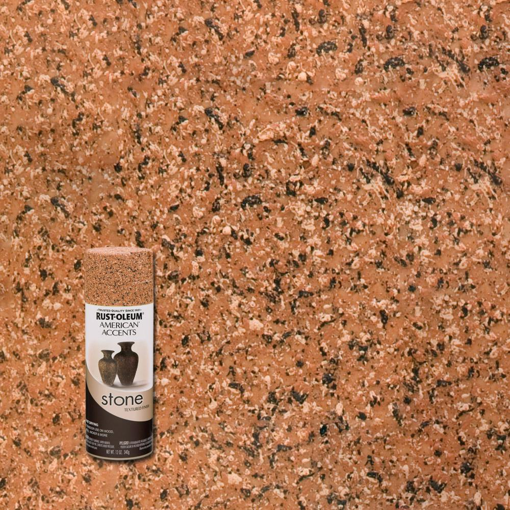 RustOleumAmericanAccents 12 oz. Stone Creations Sienna Stone Textured Finish Spray Paint